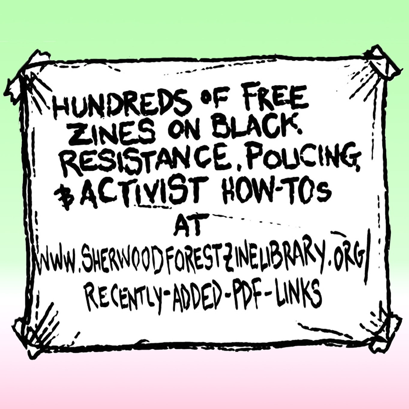 Free Zines on Black Resistance