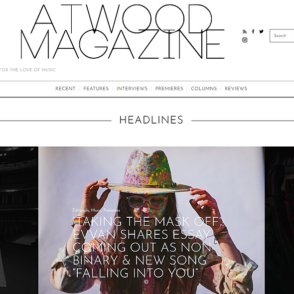 @evvanmusic Taking the Mask Off with Atwood Magazine Link Thumbnail   Linktree