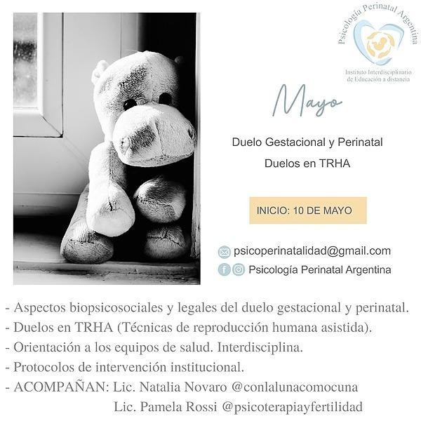 """@Psicologiaperinatalargentina Curso MAYO: """"DUELO GESTACIONAL Y PERINATAL"""" Link Thumbnail   Linktree"""