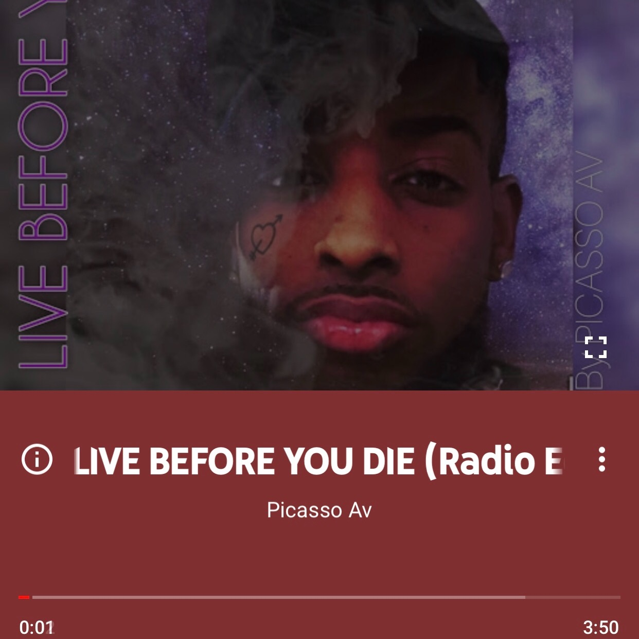 Live before you die YouTube music