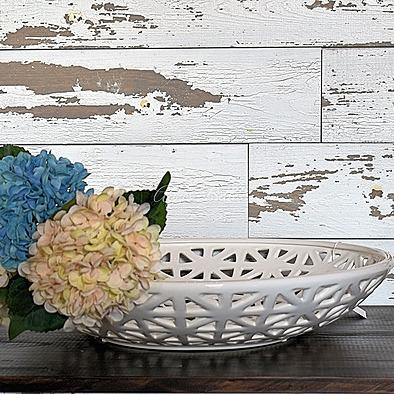 Agnes Belle Pierced White Ceramic Bowl Link Thumbnail | Linktree