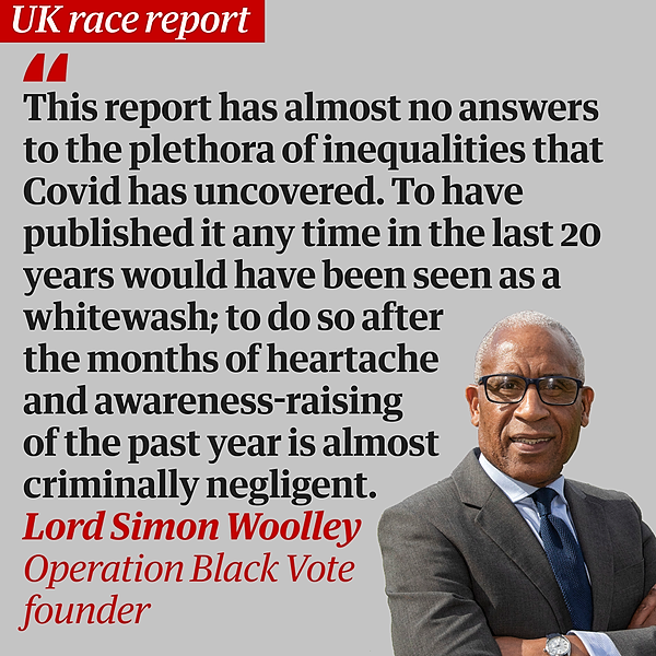 Despite the Sewell report, No 10 can no longer remain in denial about racism