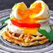 Eggs Benedict and Zucchini Parmesan Waffle Recipe
