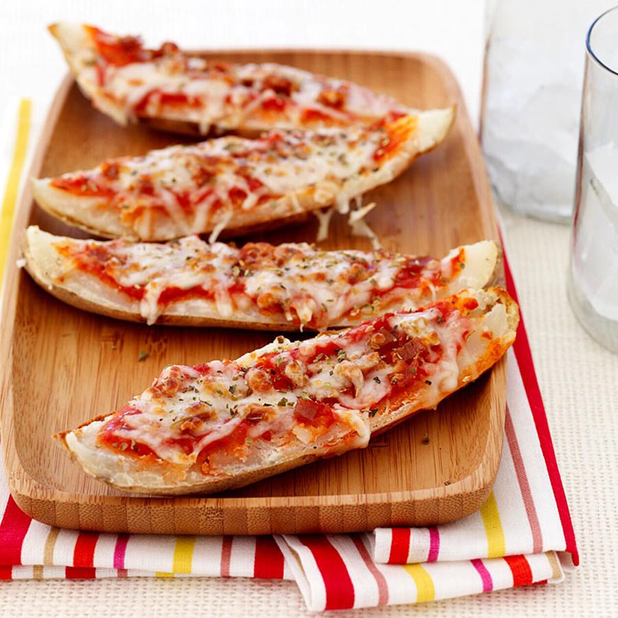 Pepperoni Pizza Potato Skins Recipe