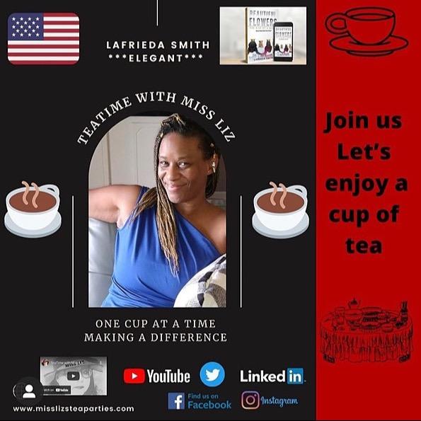 @AuthorLaFrieda YouTube- Teatime with Miss Liz 6/17/21 Link Thumbnail | Linktree