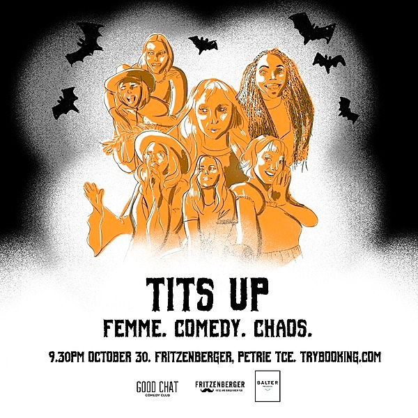 Get tickets to Tits Up | Femme. Comedy. Chaos. [Oct 30th]