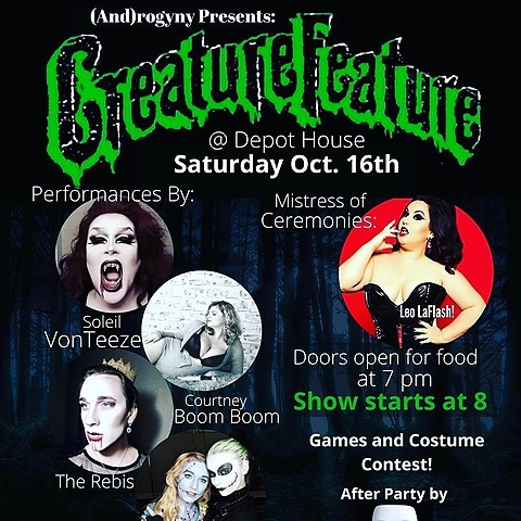 DEPOT_HOUSE CREATURE FEATURE OCTOBER 16TH General Admission Link Thumbnail | Linktree