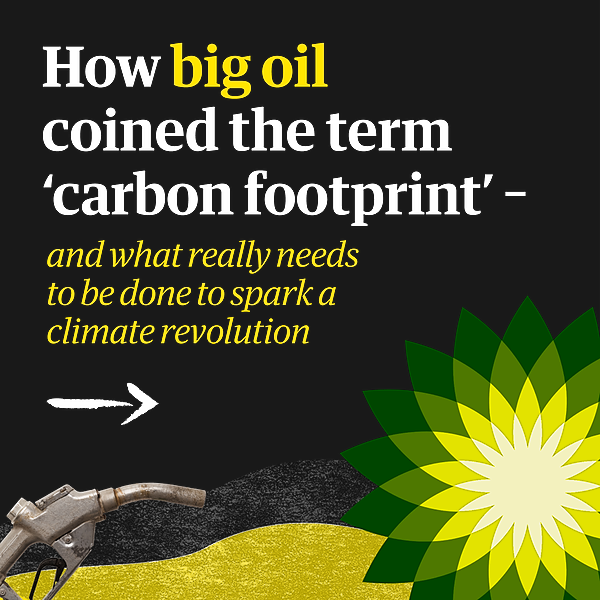 @guardian Big oil coined 'carbon footprints' to blame us for their greed. Keep them on the hook   Rebecca Solnit Link Thumbnail   Linktree