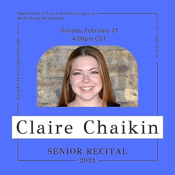 @lucmusicprogram Senior Recital: Claire Chaikin Link Thumbnail | Linktree