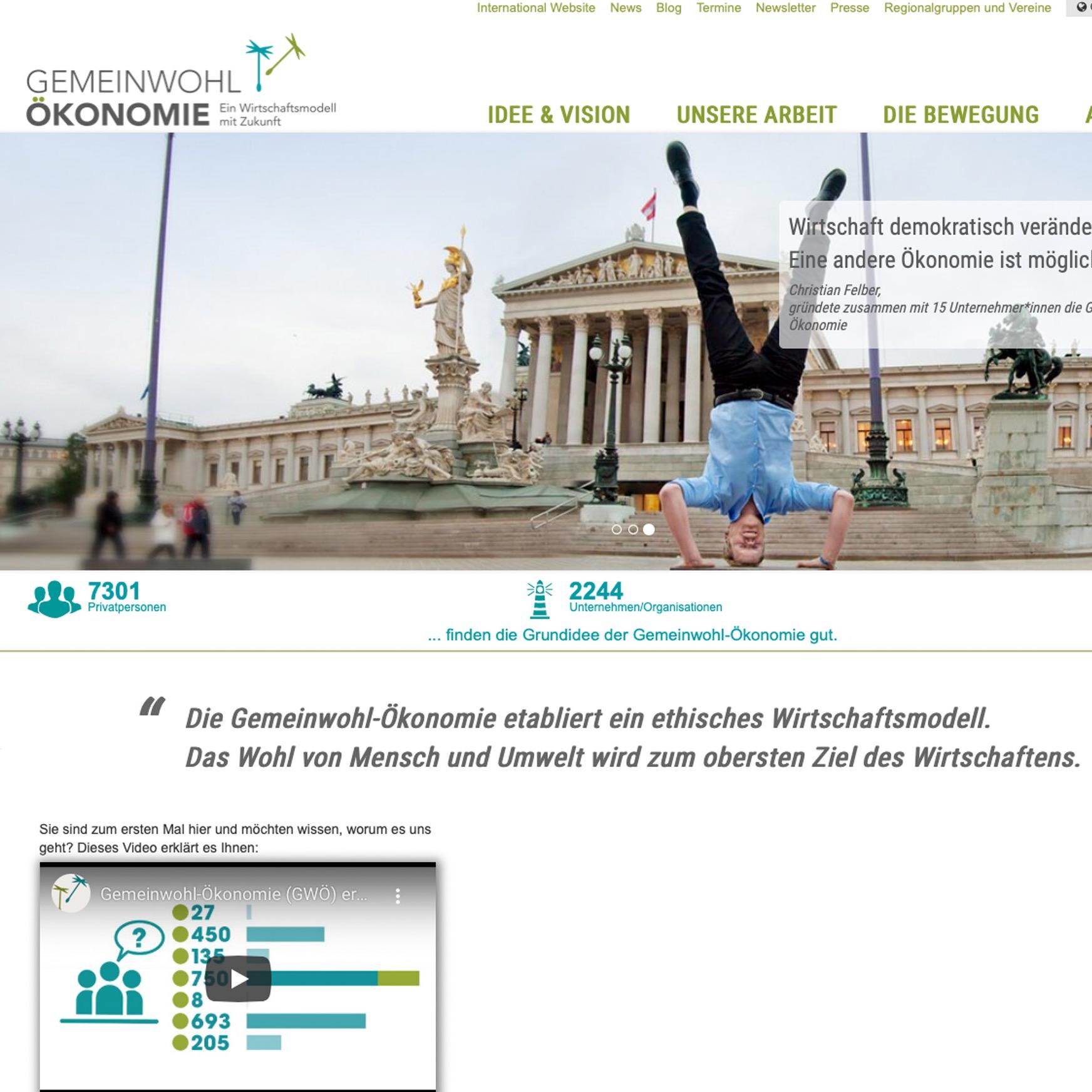 Gemeinwohl-Ökonomie   Website deutsch