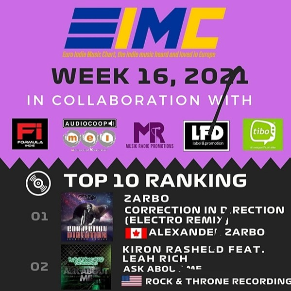 @Zarbo #1 this week - European Indie Music Charts - Correction in Direction (Electro Remix)  Link Thumbnail | Linktree