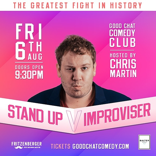 @goodchatcomedy Get tickets to Stand Up VS Improviser! [Aug 6] Link Thumbnail | Linktree