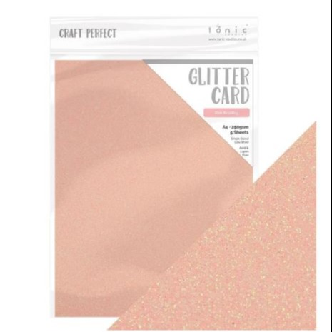 Craft Perfect Glitter Card Pink Frosting