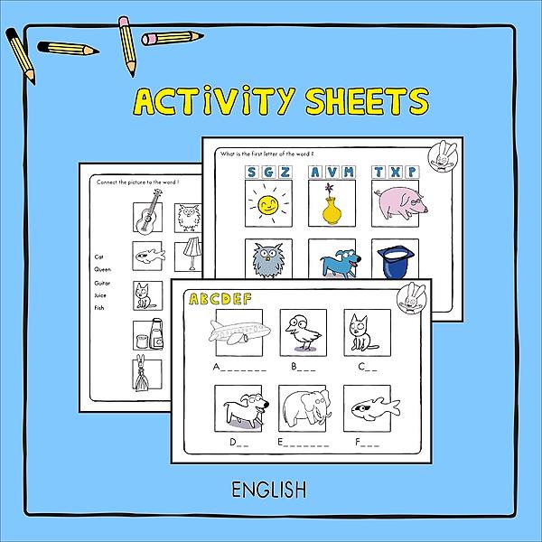 @simonsuperrabbit Simon's Activity Sheets Link Thumbnail | Linktree