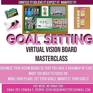 @DivineInGodMinistries GoalSetting and Vision Board Masterclass Link Thumbnail | Linktree