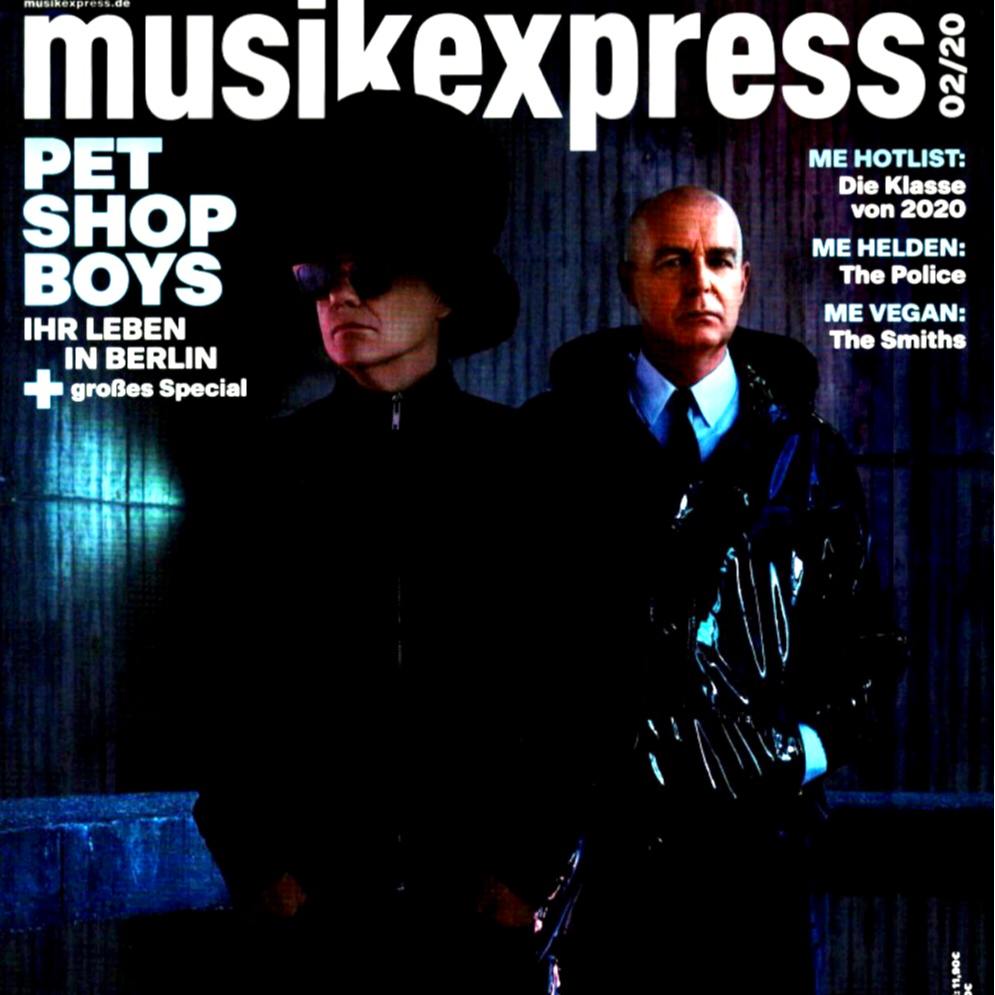 """Order the latest issue of Musikexpress ft. a 7"""" PSB single"""