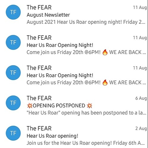The FEAR Sign up to our mailing list Link Thumbnail   Linktree
