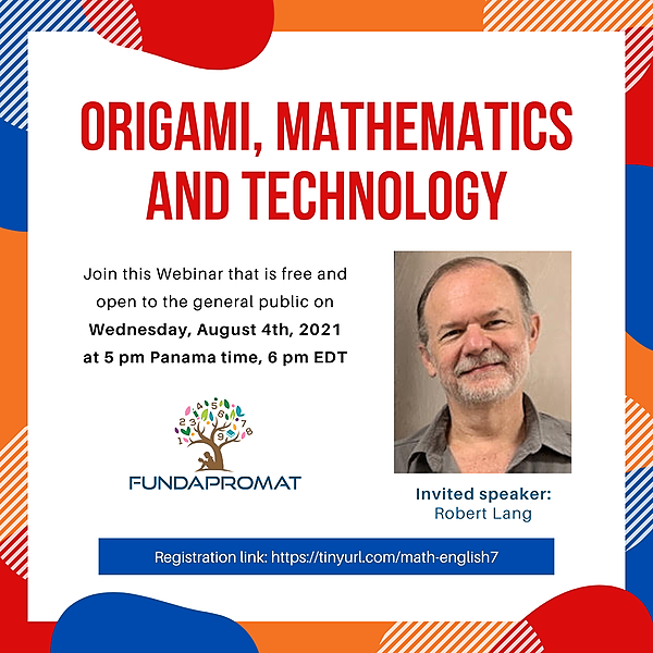 @jshakall Seventh Math Webinar in English - with the origami artist Robert Lang Link Thumbnail | Linktree