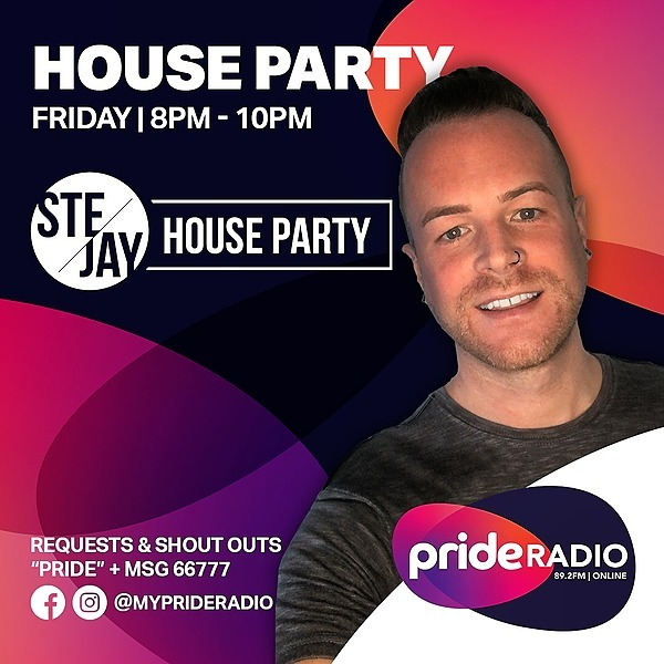 Listen again to SteJay House Party (Pride Radio)