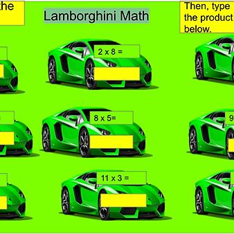 Student Math Slides (20 pack)