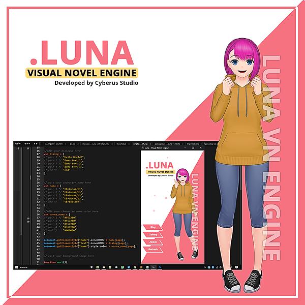Cyberus Studio Luna VN Engine Link Thumbnail | Linktree