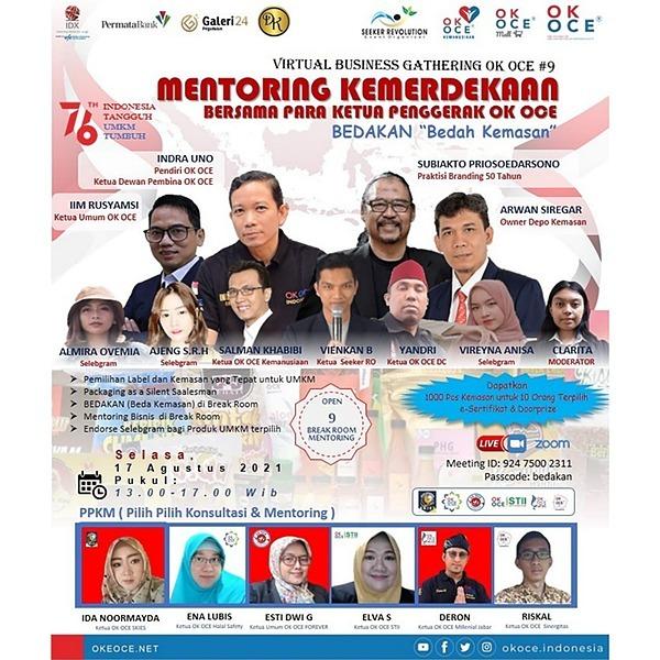Seeker Revolution Virtual Business Gathering OK OCE #9 Spesial 76th Hut Kemerdekaan RI Link Thumbnail | Linktree
