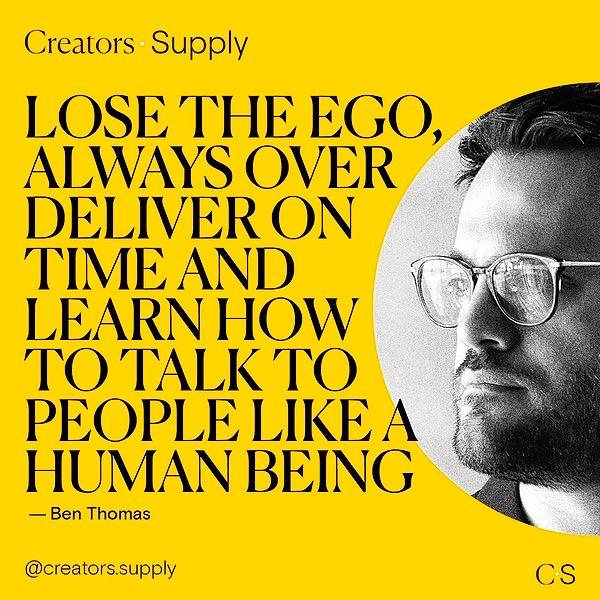 Ben Thomas Creators Supply Interview Link Thumbnail | Linktree