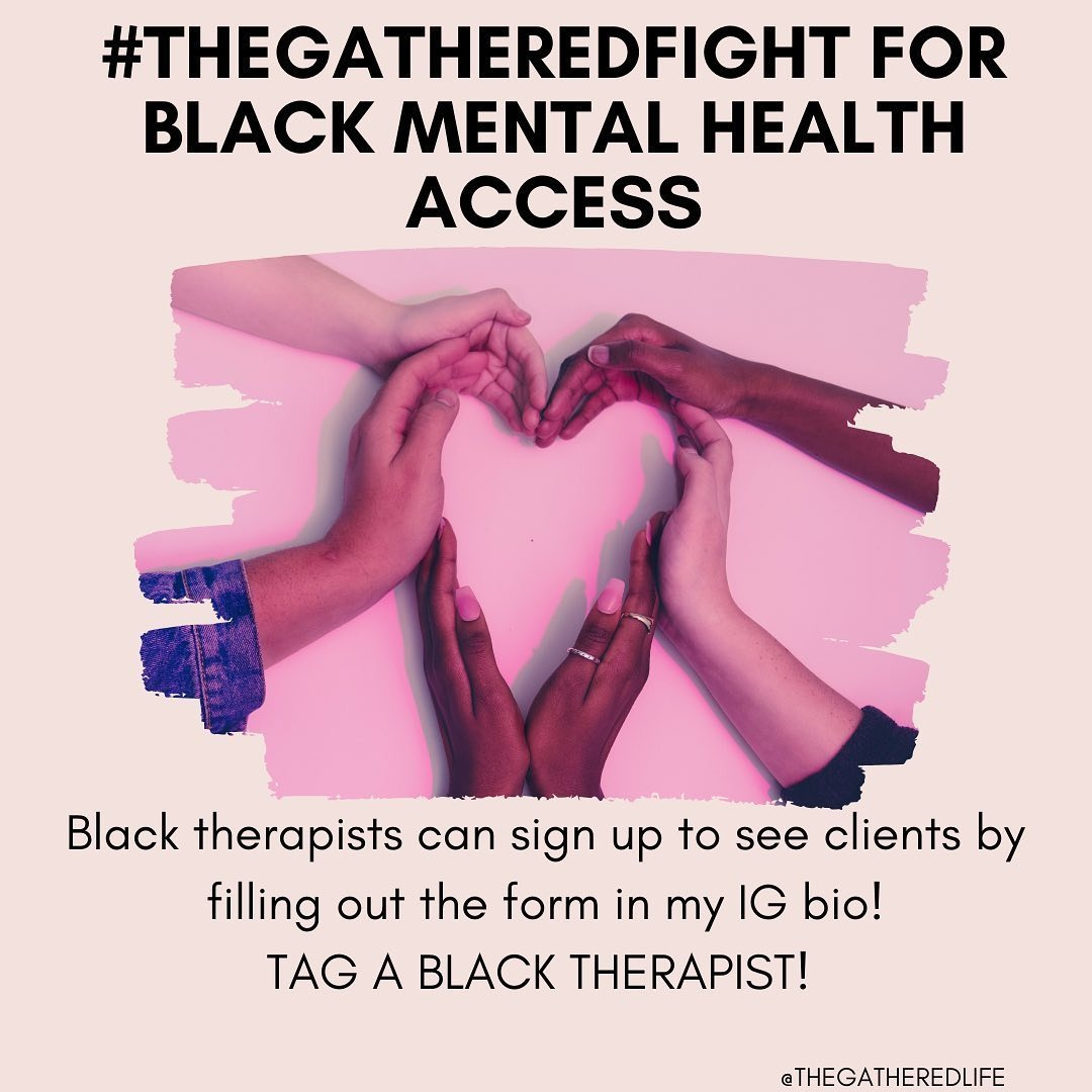 Donate to #thegatheredfight for Black Mental Health Access