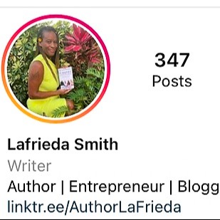 @AuthorLaFrieda Instagram Link Thumbnail | Linktree
