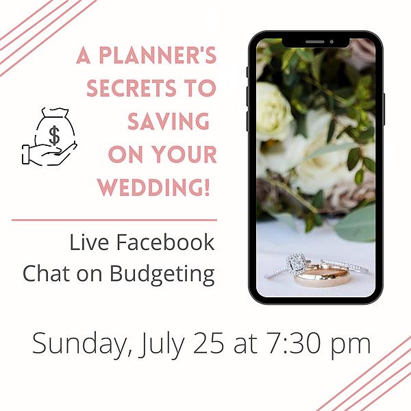 Marketing + Events Savant Facebook Live Event: A wedding planner's secret to smart budgeting.  Link Thumbnail   Linktree
