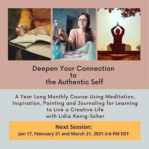 @lidiascherart Meditate-Paint-Journal 3-Hour Online Classes-Next Class 011720- Link Thumbnail | Linktree