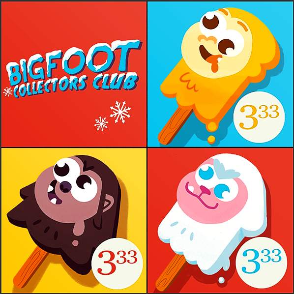 """Bigfoot Collectors Club """"Popsicle Bigfoot"""" by Holly Ready Link Thumbnail 