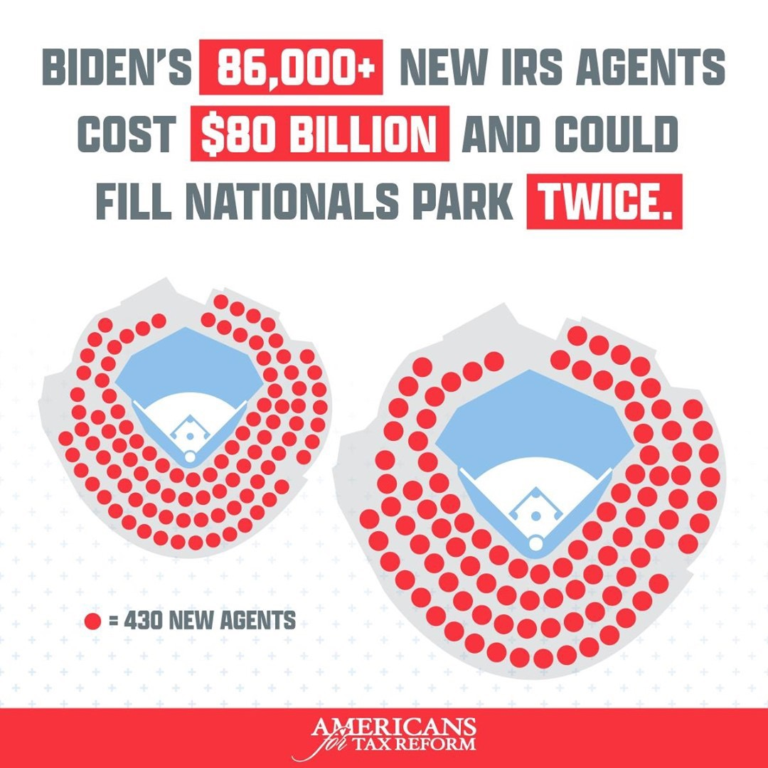 @grovernorquist Treasury Confirms: Biden Plans to Hire 87,000 New IRS Agents, Enough to Fill Nats Park Twice Link Thumbnail | Linktree