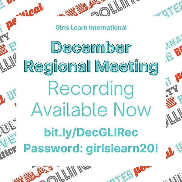 December Meeting Recording