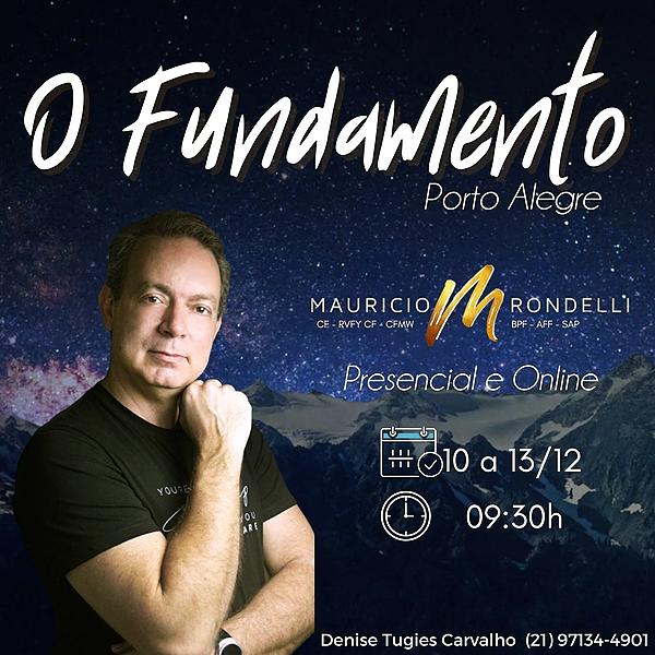 O Fundamento em Porto Alegre- Presencial e Online de 10 a 13/12