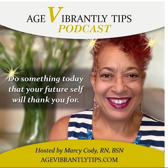 Age Vibrantly Tips Podcast LISTEN 🎧 NOW 🗣Apple, Spotify  and more‼️ Link Thumbnail | Linktree