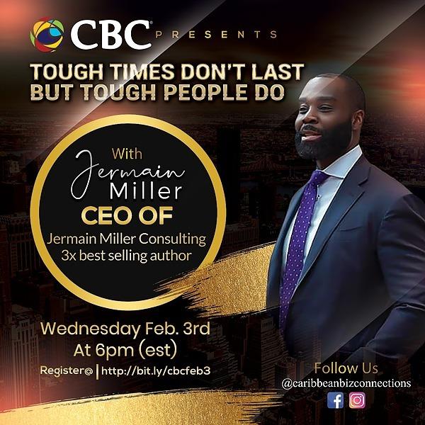 @JermainMiller CBC Presents, Tough Times Don't Last But Tough People do w/Jermain Miller Link Thumbnail   Linktree