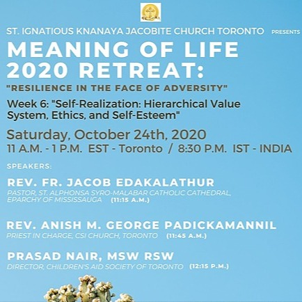 """@stignatiousseniors Speakers List for Week 6 of """"Meaning of Life 2020 Retreat"""" Seminar Link Thumbnail 