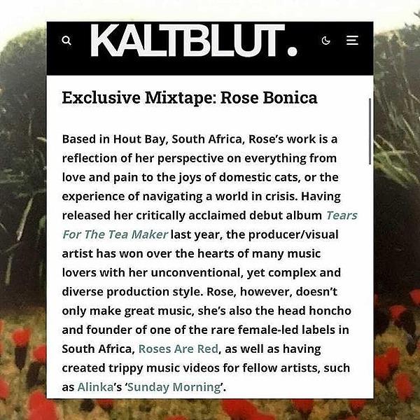 @imtrxstxssx Rose Bonica Mixtape for KALTBLUT Magazine Link Thumbnail | Linktree