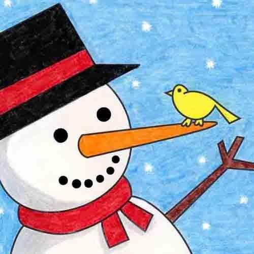 @artprojectsforkids Draw an Easy Snowman Link Thumbnail   Linktree