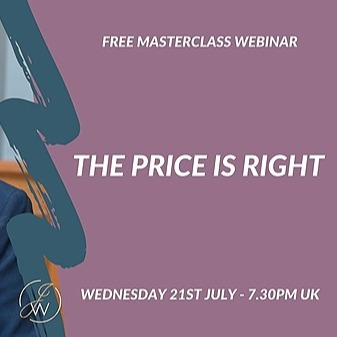 Live it Love it Sell it FREE Masterclass Webinar - The Price is Right Link Thumbnail | Linktree