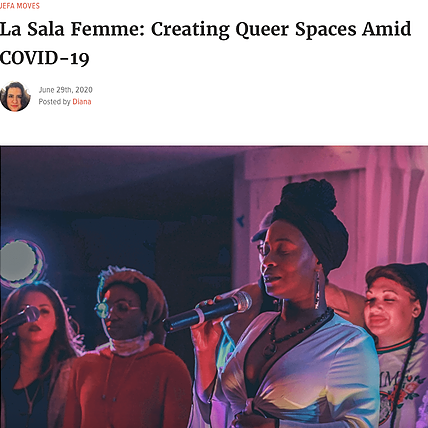 La Sala Femme: Creating Queer Spaces Amid COVID-19 (Interview)