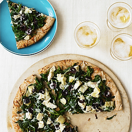 Spinach and Fontina Pizza Recipe