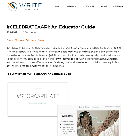 Educate to Empower Featured on WRITE CENTER blog Link Thumbnail | Linktree