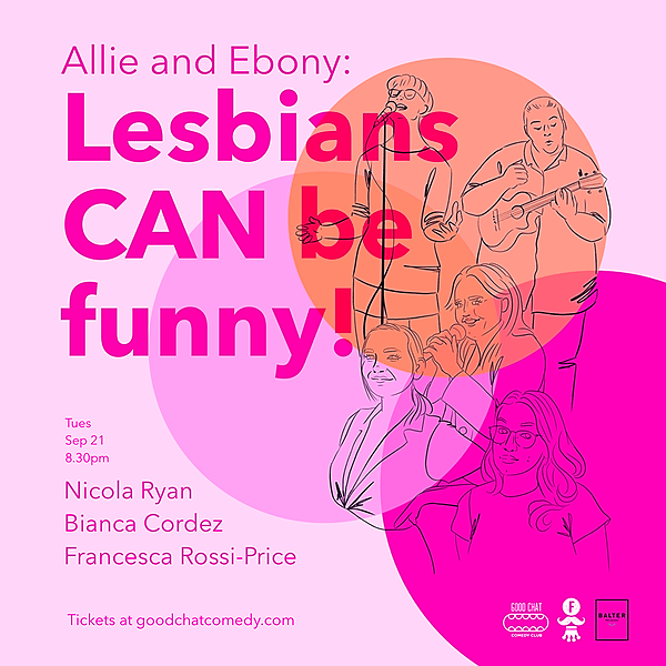 @goodchatcomedy Get tickets to Allie & Ebony | Lesbians CAN Be Funny! [Sept 21] Link Thumbnail | Linktree