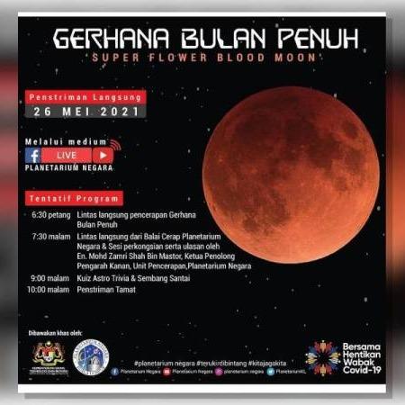 @sinar.harian Gerhana bulan penuh 'Super Flower Blood Moon' Rabu ini  Link Thumbnail | Linktree