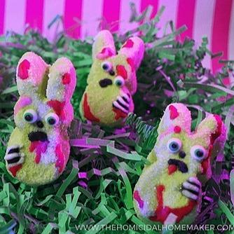 The Homicidal Homemaker Boozy Zombie Bunny Marshmallows Link Thumbnail | Linktree