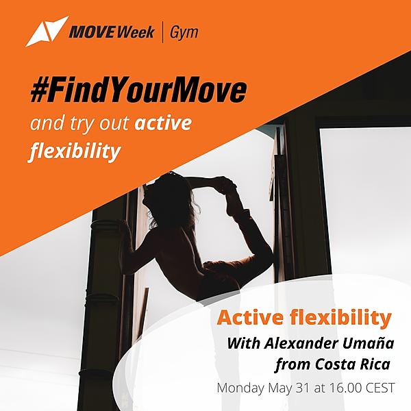 Mon, 16.00 CEST - Active Flexibility with Alexander Umaña