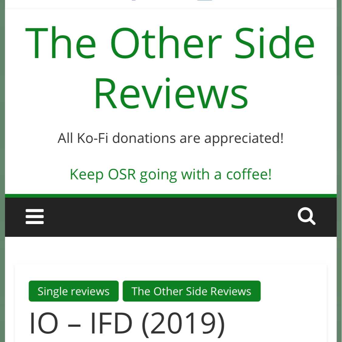 IO LINKS! Other Side Review - IFD Link Thumbnail | Linktree
