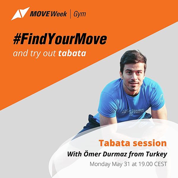 Mon, 19.00 CEST - Tabata workout with Ömer DURMAZ